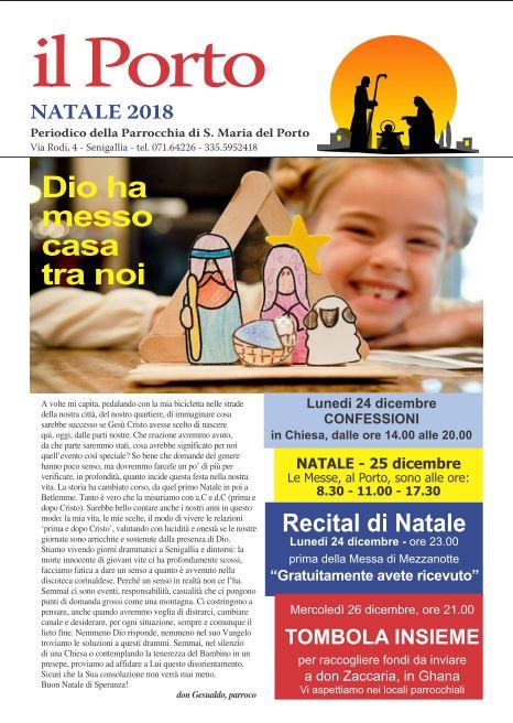 Fronte Giornalino Porto - Natale 2018