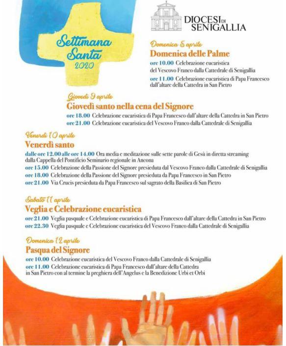 programma settimana santa 2020